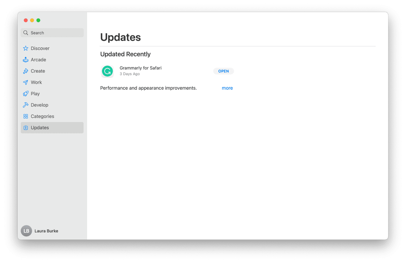 Updating apps on Mac
