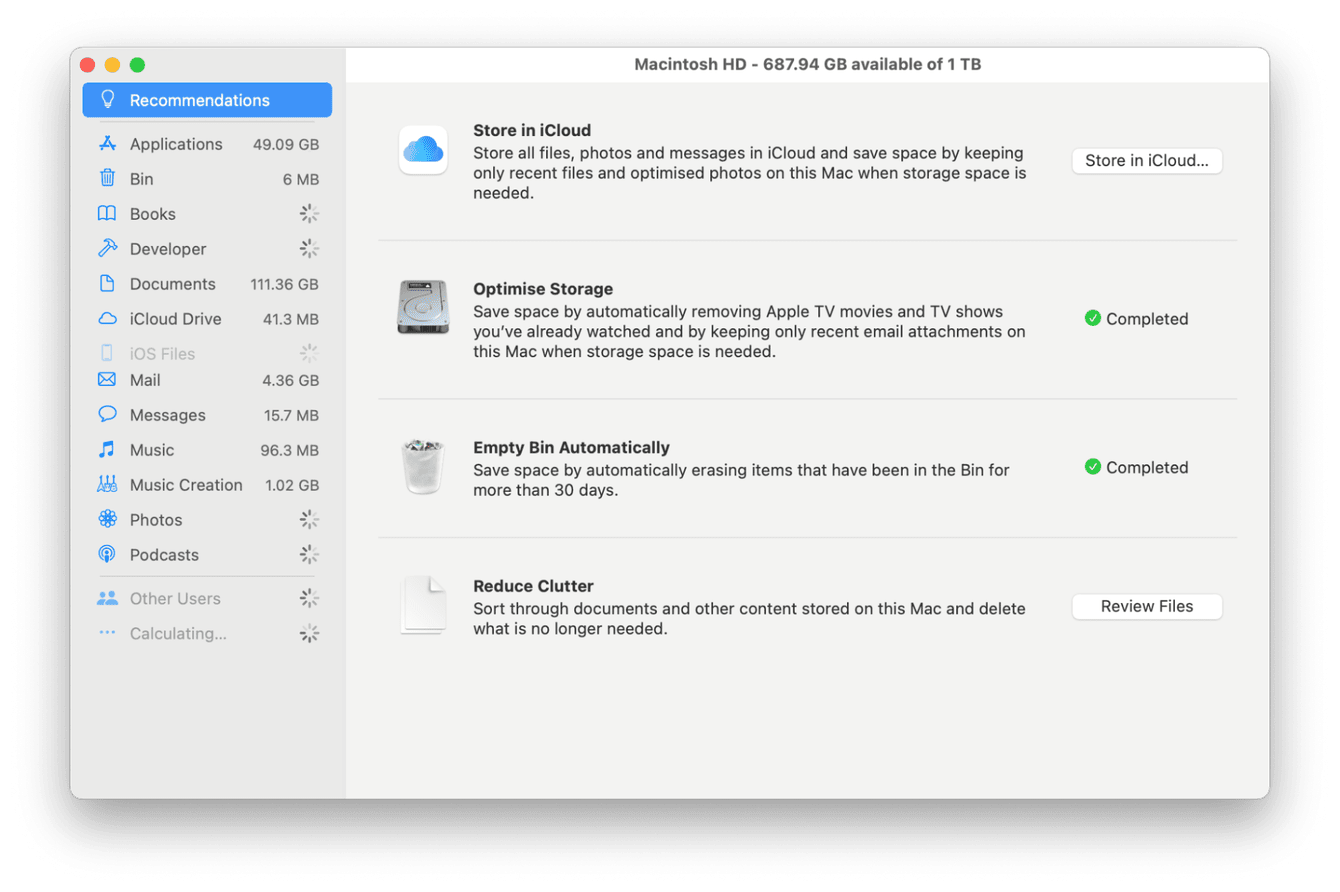 How to manage and optimize storage on Mac