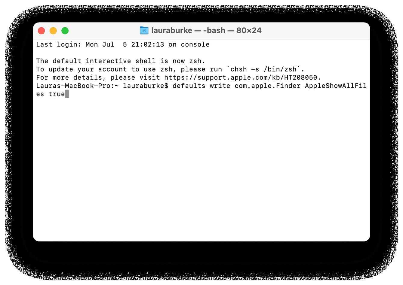 Finding hidden files on Mac