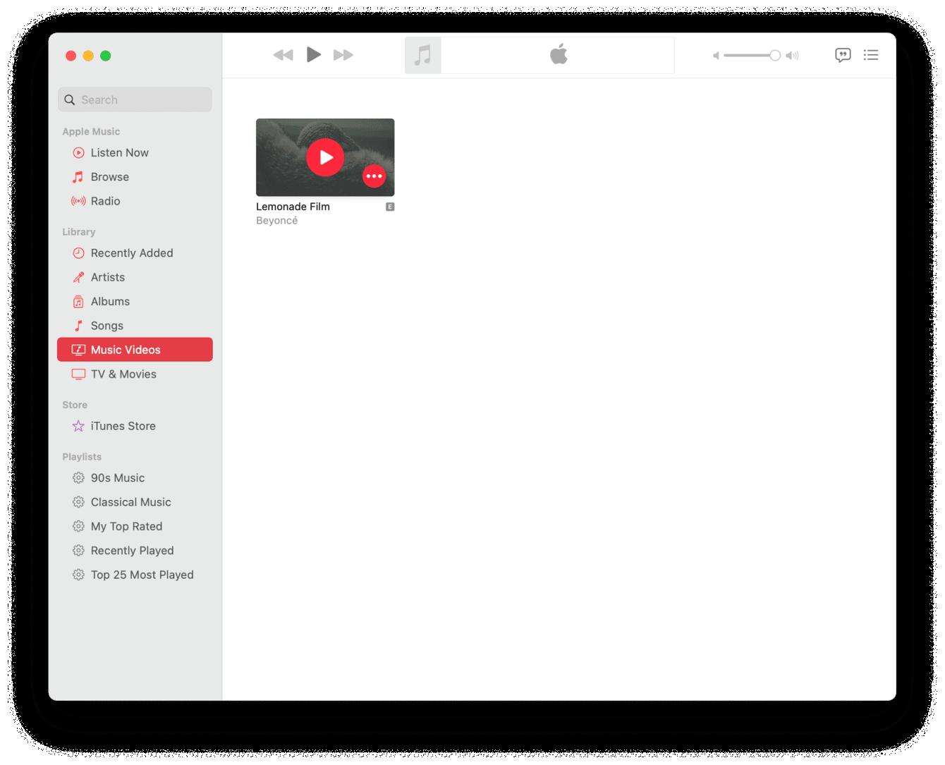 Movie files in iTunes