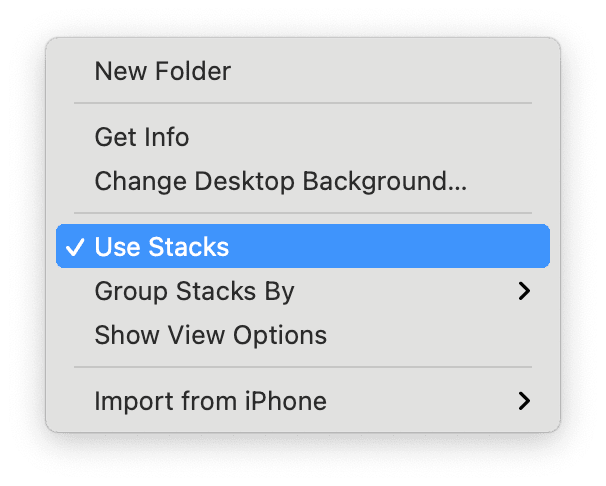 How to use desktop stacks