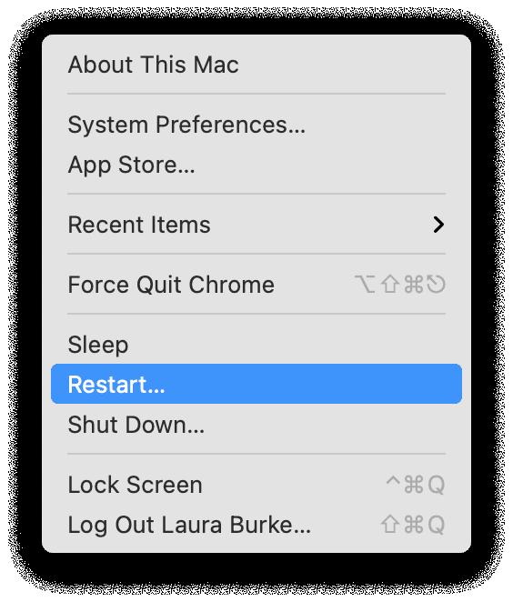How to restart Mac