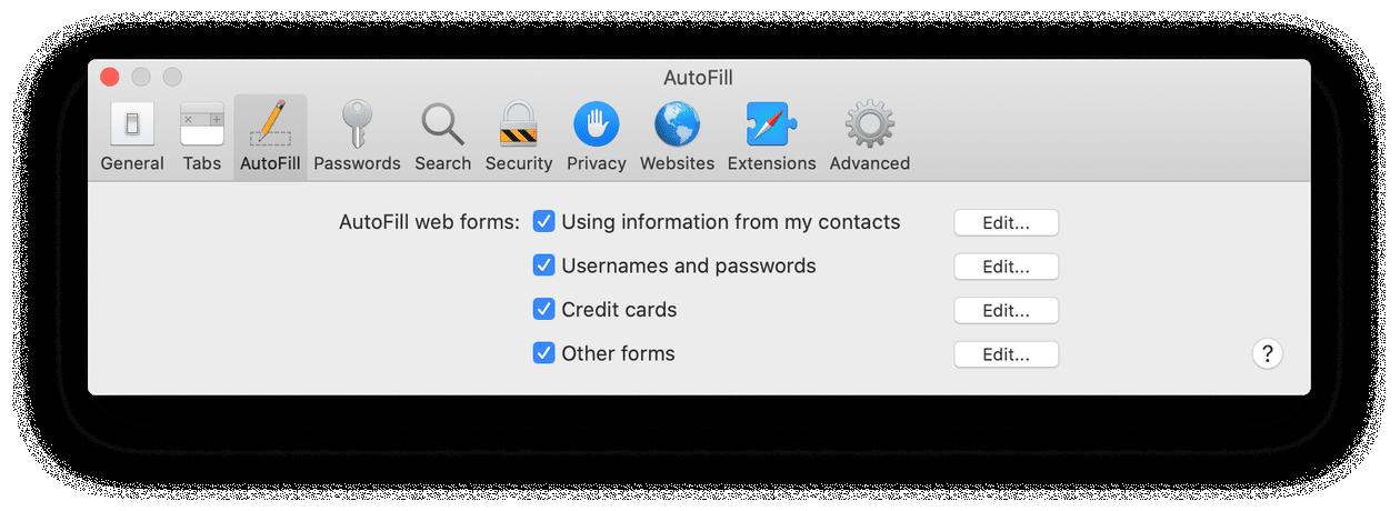 How to turn on autofill in Safari