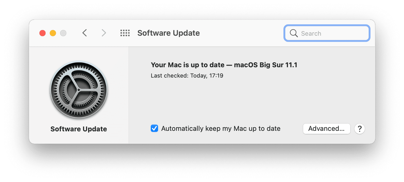 How to check for macOS updates