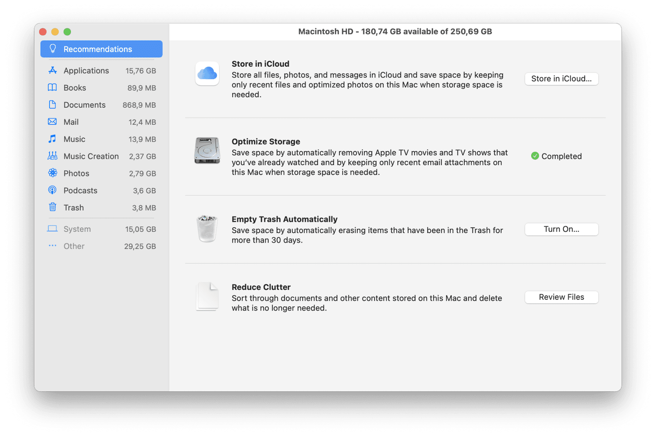 How to manage storage on Mac