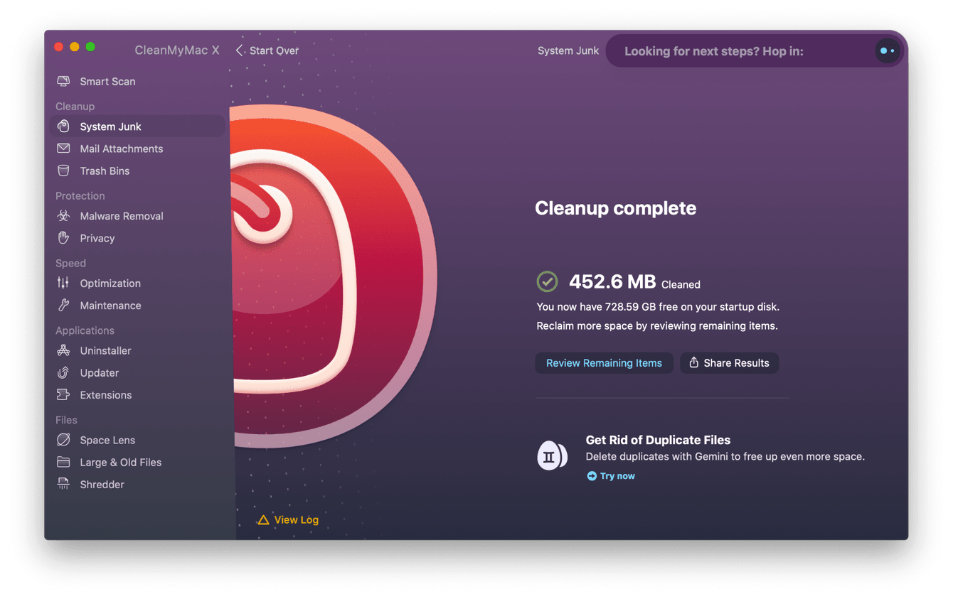 How to remove system junk with CleanMyMac X