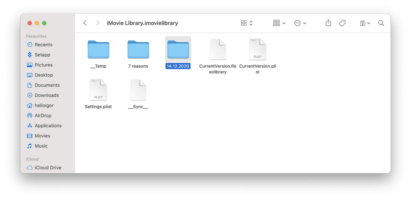 How to remove iMovie files