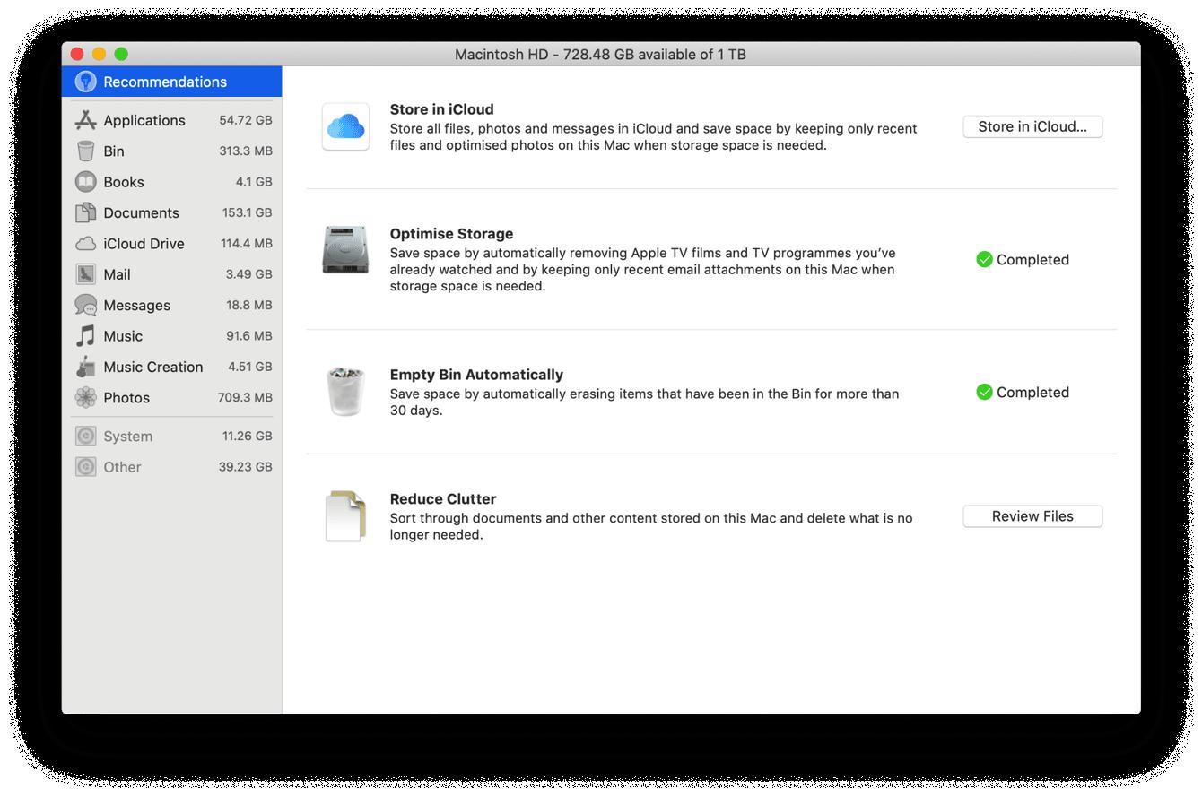 How to manage storage on Mac