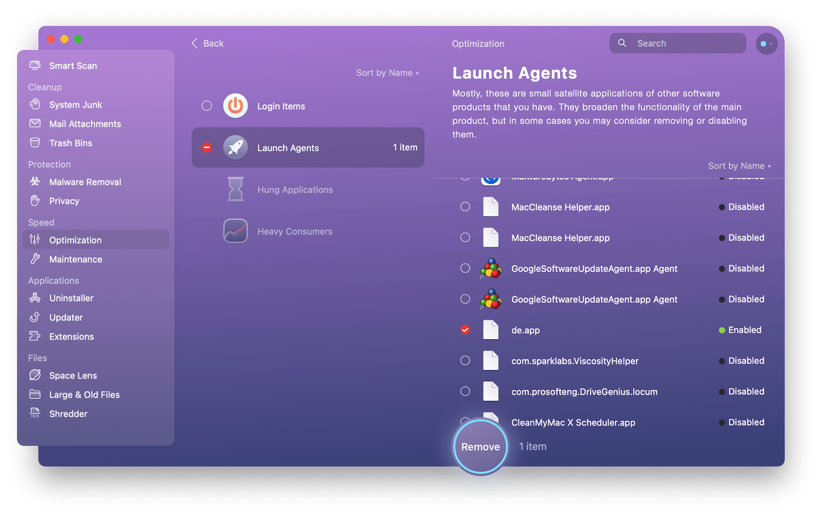How to disable launch agents on Mac