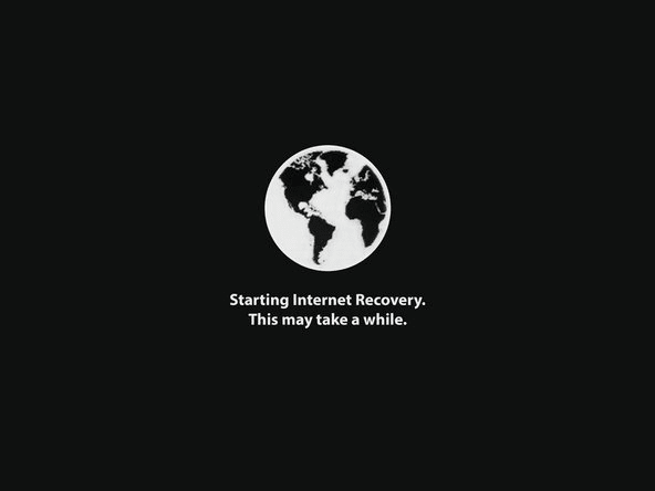 Internet Recovery on Mac started