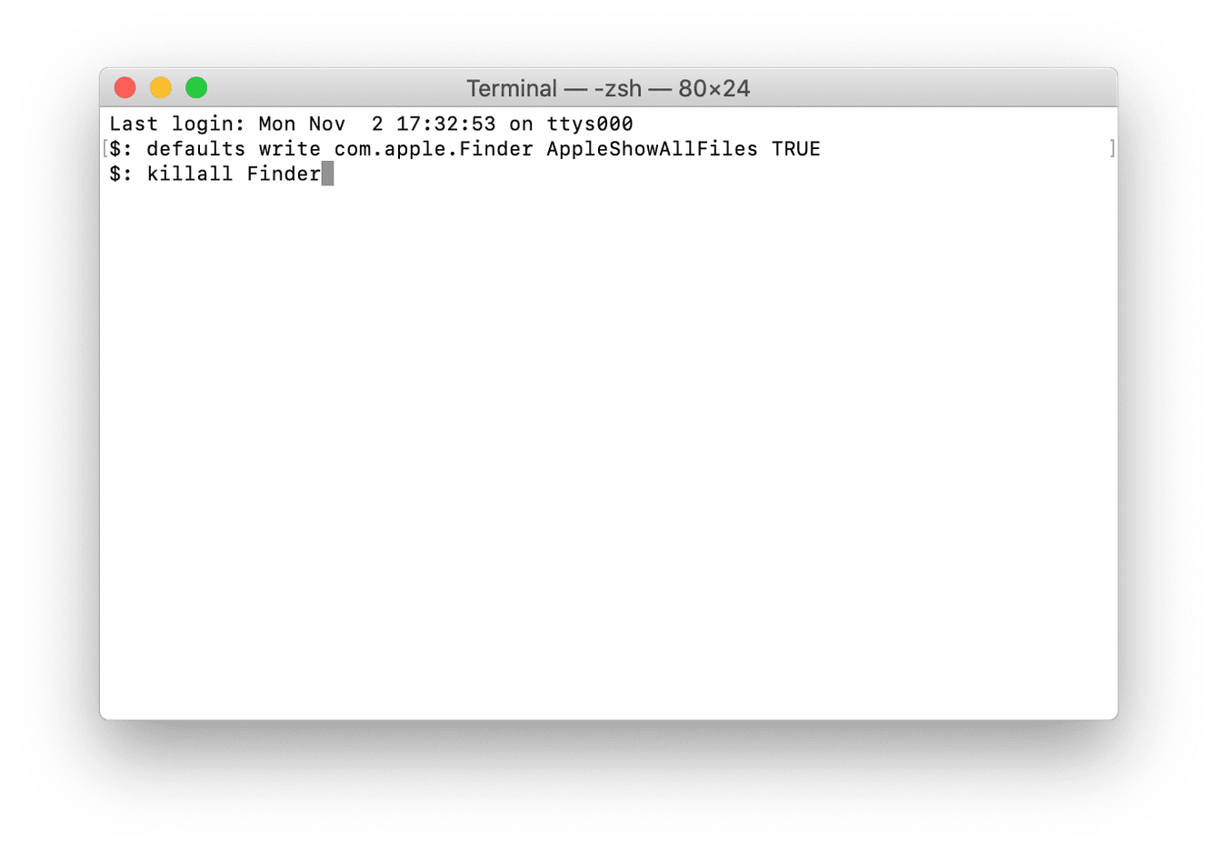 How to locate hidden files with Terminal