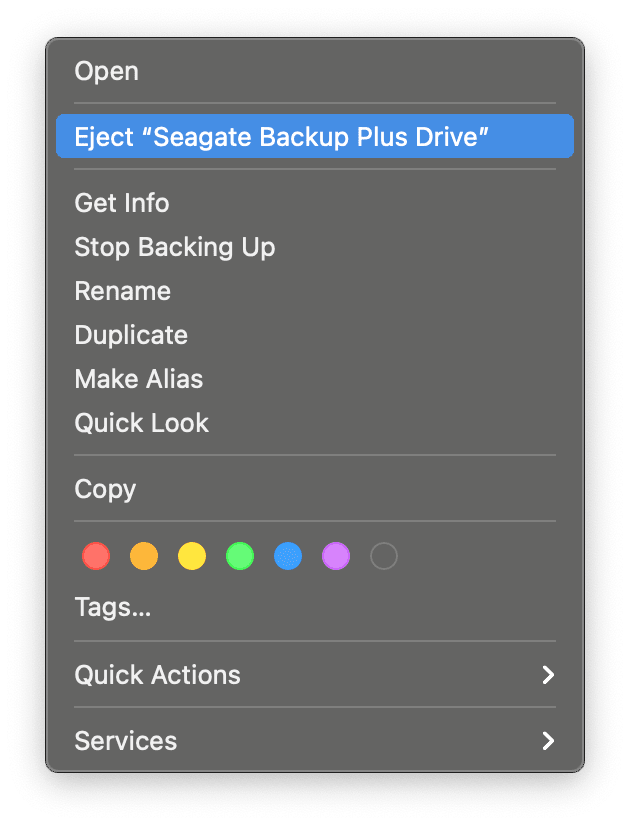 How to eject your drive