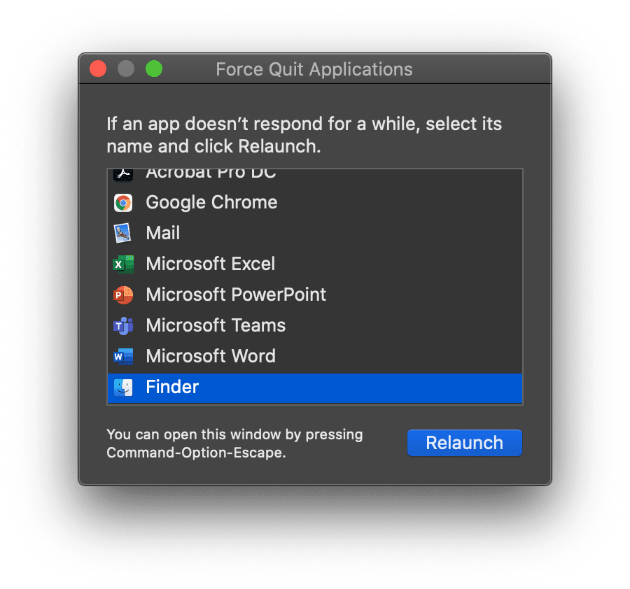How to force quit Finder